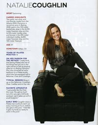 Pilates Style July August 2012 Natalie Coughlin